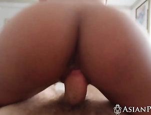 Asian,POV,Babes Petite Thai Ashley wakes up horny