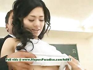 Amateur,Asian,Brunette,Japanese Sora Aoi innocent sexy japanese...