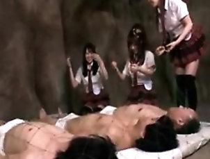 Amateur,Asian,Blowjob,Teen,Uniform Naughty Oriental schoolgirls showing...