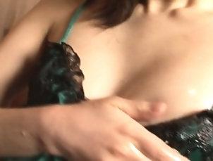 Asian,Ass,Fingering,Hairy,Japanese,Masturbation Big ass and oiled up brunette, Yuki...