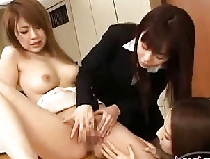 Asian;Lesbian;Office,Asian,Lesbian,Office Office Lady Getting Her Nipples...