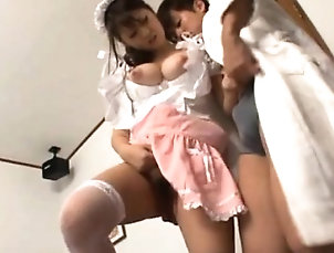 Asian,Blowjob,Japanese,Masturbation,Stockings,Upskirt Sexy act in japanese cosplay