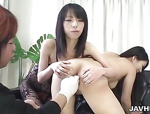Amateur;Asian;Japanese Saya Fujimoto and her friend on the...