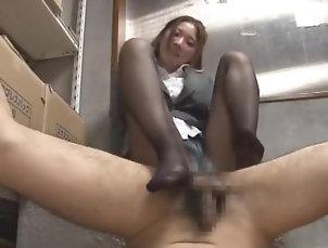 Asian,POV,Japanese,Straight,JAV Censored,Foot Job Amazing Japanese slut Izumi Yoshikura...