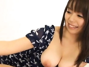 Asian,Big Boobs,CFNM,Handjob,Japanese Breasty sweetheart toy fucked hard
