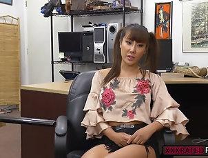 Amateur,Asian,Big Dick Asian Tiffany Rain fucks pawnmans cock