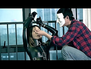 asian,latex,bdsm,fetish,bondage,japanese,handcuffs,rubber,catsuit,asian_woman fx-tube.com Captured the girl on...