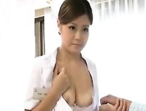 Amateur,Asian,Japanese,Softcore,Uniform Provocative Japanese nurse sensually...