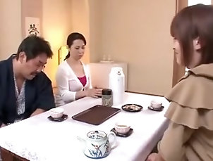 Japanese;Cheating;Mom;Family;Fucked Fucked mother-in-law in a family trip