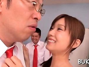 Blowjob,Bukkake,Hardcore,Japanese,POV Japan woman gets 2 fellows to drill...