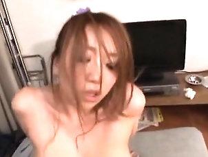 Asian,Big Boobs,Blowjob,Hairy,Hardcore Needy woman uses ramrod for own...