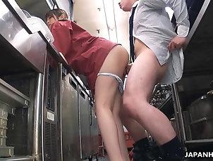 FFM;Japanese;Kitchen,1080,1080p,720,720p,blowjob,brunette,cock riding,english subtitles,ffm,hairy pussy,hd,hidef,highdefinition,japan,japanese,jav,kitchen,naked,rear fuck,uncensored,hd Japanese Kyoka Makimura and Sakura...