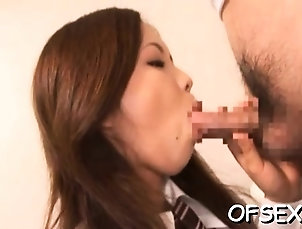 Asian,Blowjob,Japanese,Milf,Small cocks Sultry exotic Riku Harumi adores...