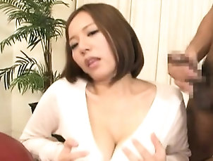Asian,Big Boobs,Japanese,Titjob Sweetie neds up jizzed on her large...