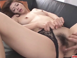 Asian,Japanese,Lingerie,MILF Maki Hojo removes undies for a...
