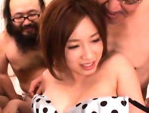 Asian,Big Boobs,Blowjob,Bukkake,Hardcore,Small tits,Voyeur Exposed female gets group screwed and...