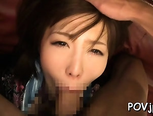 Asian,Blowjob,Cumshot,Hardcore,Japanese,POV,Stockings,Toys Amazing maid Nanako Mori enjoys...