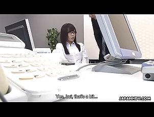 dildo,brunette,glasses,masturbating,masturbation,asian,japanese,nylons,japan,big-tits,jav,uncensored,hairy-pussy,english-subtitles,toy-insertion,asian_woman Japanese office lady, Mikuru Mio...