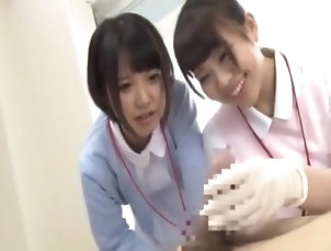 Asian,Fetish,Handjob,Japanese,Straight japanese nurse surgical gloves handjob