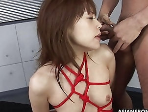 Asian;Group Sex BDSM annihilation with three cocks...