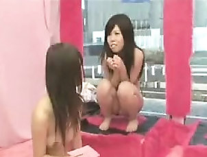 Asian,Big Boobs,Lesbian,Threesome,Toys Big breasted Asian hottie is made to...