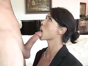 Asian,Blowjob,Brunette,Cunnilingus,Hardcore,Tattoo,Straight,Step Fantasy older woman getting satisfaction