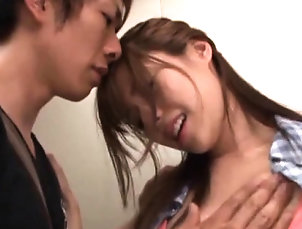 Asian,Blowjob,Cumshot,Fingering,Hardcore,Japanese,Squirting,Teen Seductive eastern Rina Rukawa...