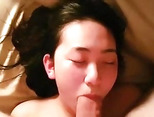 Amateur;Asian;Blowjob;Teen;Big Cock Tender Asian Penis Sucking Blowjob