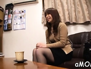 Asian,Fingering,Japanese,Stockings Oriental milf loves a random boy...