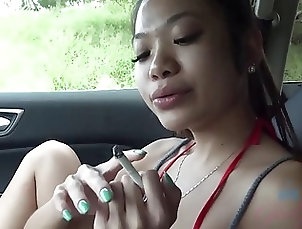 Asian;Car;Outdoor,1080p,720,1080,720p,asian,car,hd,hidef,highdefinition,outdoor,hd Hot Asian with sexy perky tits babe...