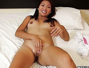 Asian;Masturbation;Dildos,Asian,Clitoris,Dildos,Jilling Off,Masturbation,Masturbation Porn Videos,Orgasm,Orgasmic Contractions,Rubbing Wet Pussy,Sex Toys,Sexual Pleasure,Sexual Satisfaction,Sexual Stimulation,Shaved Pussy Cute Asian floozy dildo fucks her wet...