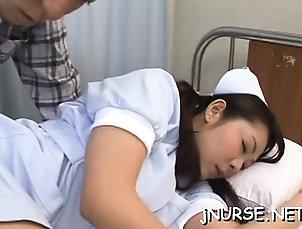Asian,Big Boobs,Hardcore,Japanese,Nipples,Uniform Slim asia nurse knows proper skills...