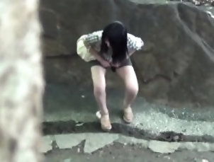 Asian,Fetish,Hd,Hidden Cams,Japanese,Outdoor,Voyeur Asians urinate outdoors