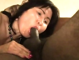 Amateur,Asian,Blowjob,Interracial,Mature Interracial blowjob of a white cock...