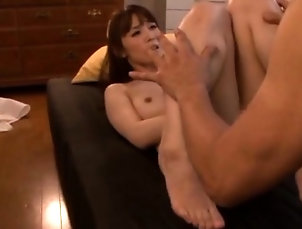 Asian,Babe,Hairy,Japanese,Lick Seductive babe gets her shaggy pussy...