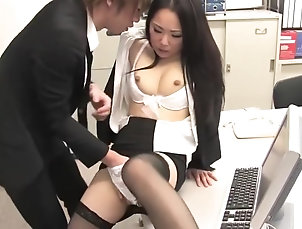 Asian,Creampie,Threesome,Office,Straight Asian office creampie