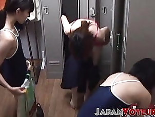 Asian;Hidden Camera;Teen;Voyeur;HD Videos;Small Tits Japanese teens filmed while changing...