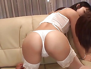 Japanese;MMF,cock sucking,creamed pussy,fuck on hands,japanese,mmf,sexy lingerie,white stockings Reo Saionji feels amazing with cock...