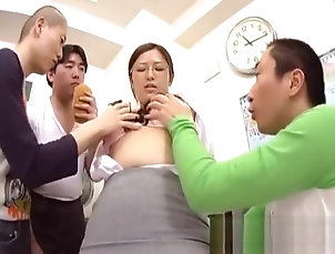 Asian,Big Tits,Blowjob,MILF,Japanese,Threesome,Straight Horny Student Shows Pussy Whilst...