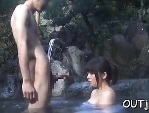 Asian,Babe,Japanese,Outdoor Japanese bimbo enjoys hard schlong