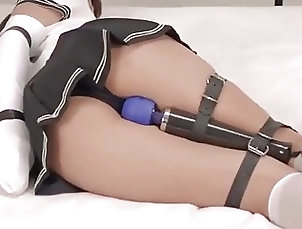 Big Tits;Asian;Bondage,armbinder,armbinder bondage,asian,asian bondage,big tits,black panties,bondage,bound and vibed,feet tied,hands tied,tied,tied and vibed,tied up,vibed bondage,vibrator Asian armbinger and vibed