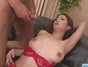 Asian;Cumshot;Group Sex;Japanese;Lingerie;Big Tits Group sex scenes along Satomi  - More...