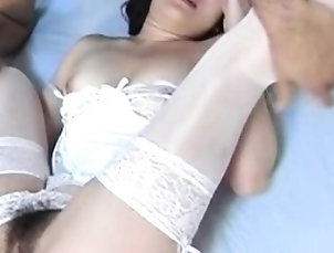 Asian,Doggystyle,Japanese,Lingerie,Milf,Small tits Oriental sucks and takes it hard