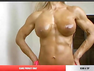 Muscular Woman;Topless;Nude;Naked Asian;Flexing;Asian Nude;FBB Nude Asian FBB topless flexing