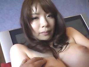 Asian,Big Tits,Dildos/Toys,Hairy,Japanese,Straight,JAV Censored Crazy Japanese chick Nao Mizuki in...