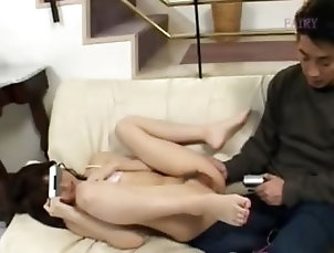 Asian,Hairy,Japanese,Masturbation,Teen Hairy japanese cunt and couch strip