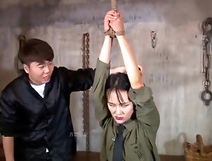 Asian,Brunette,Fetish,Teens,BDSM,Foot Fetish,Chinese,Straight chinese spy girl tickle(tiger stool)