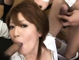 Asian,Blowjob,Group Sex,Hairy,Hardcore,Milf Sexy teacher's bushy vagina...