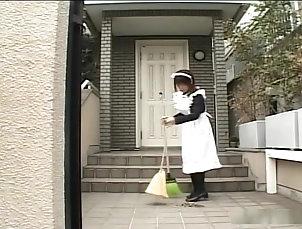 Asian,Blowjob,Cumshot,Facial,Japanese,JAV Uncensored,Maid,Straight Mind and cock blowing japanese maid...