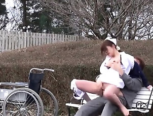 Asian,Big Boobs,Hardcore,Japanese,Outdoor,Uniform Sexy nurse gets her hairy pussy...